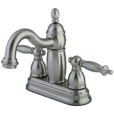 Charlevoix Centerset Bathroom Faucet with Double Lever Handles