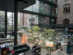 The Conservatorium Hotel delivers a true five-pearl experience in Amsterdam's residential Museum Quarter. It's housed in a former bank Best Hotels In Amsterdam, Beautiful Hotels, Amazing Hotels, Beautiful Places, Banks Building, Most Luxurious Hotels, Ceiling Windows, Exposed Brick, Hotels