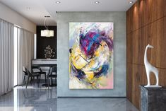 Items similar to Large Modern Wall Art Painting,Large Abstract wall art,painting colorful,xl abstract painting,canvas wall art on Etsy Large Abstract Wall Art, Abstract Canvas, Canvas Wall Art, Painting Canvas, Large Painting, Painting Abstract, Acrylic Canvas, Extra Large Wall Art, Large Art