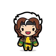 Classic Rogue has a weird hair style. Classic Rogue has a weird hair style. Chibi Characters, Comic Book Characters, Comic Character, Character Design, Cartoon People, Cartoon Pics, Iron Fist Marvel, Rogue Gambit, Arte Nerd