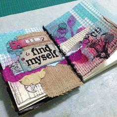 It's Time to Find Myself #art #journal Jenn Garman