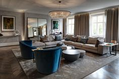 Award winning Luxury Penthouse design by Staffan Tollgard London!! Interior design ideas Best interior designers Modern Living Room Ideas #homedecorideas #modernlivingroomdesign #luxuryinteriordesign Find more in: https://www.brabbu.com/en/inspiration-and-ideas/
