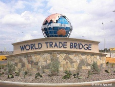 World Trade Bridge in Laredo, TX. Tots to Teens Pediatric dentistry - t2tpd.com Laredo Texas, Rio Grande Valley, Lone Star State, South Texas, World Trade, Places Ive Been, Natural Beauty, Earth, City