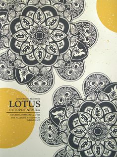 lotus in denver, 2012 (unfamiliar with the band, but love the artwork)