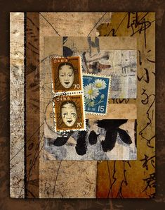 Paper Postage And Paint photomontage by Carol Leigh