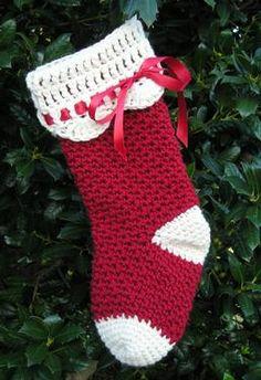 Easy+Crochet+Christmas+Stocking+Patterns | Christmas Crochet Stocking - Knitting Patterns and Crochet Patterns ...