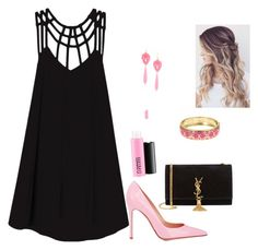 """""""Pink and Black -Tay"""" by hantay01 ❤ liked on Polyvore featuring RVCA, Gianvito Rossi, MAC Cosmetics, Fornash and Yves Saint Laurent"""