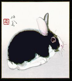 Seiho Takeuchi, thanks to a lovely bunny post on Japonisme