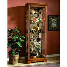 Shop Pulaski Furniture Brown Two Way Sliding Door with great price, The Classy Home Furniture has the best selection of Curio Cabinets to choose from Pulaski Furniture, Home Furniture, Kitchen Corner, Golden Oak, Dining Room Sets, Beveled Glass, Glass Shelves, Accent Furniture, Victorian Era