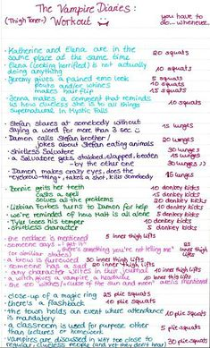 Vampire Diaries workout- guess I could make good use of my time while catching up on TVD.