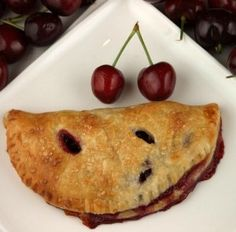 fresh cherry turnovers with creamcheese crust