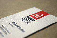 Fontdeck Business Card by blush°°, via Flickr