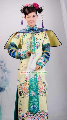qing dynasty clothing | Qing Dynasty Imperial Princess Embroidered Clothing Complete Set for ...