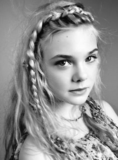 Elle Fanning // gorgeous. This is one of the first pictures that I ever saw of elle, she doesn't look like herself here.