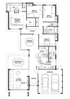 Looking for new home designs? Gemmill Homes will help you build a home suited for your block. Perth home designs that keep your budget in mind. View our house plans now! 4 Bedroom House Plans, House Floor Plans, Duplex House Design, Curved Walls, Storey Homes, New Home Builders, Display Homes, New Home Designs, Future House