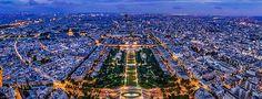 Paris, France celebrating Bastille Day marking the French Revolution in 1789 on July 14.