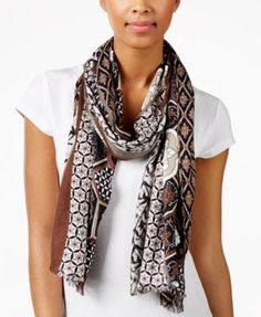 $25 INC International Concepts Chinois Tile Printed Wrap, Only at Macy's