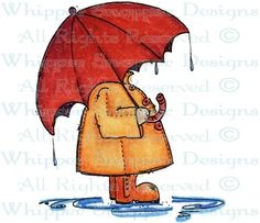 Umbrella & Slicker - Children - Rubber Stamps - Shop