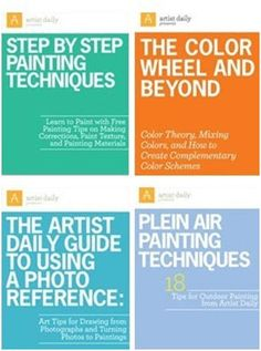 Learn the Basic Lessons of Painting in any Medium – Download four free eBooks from ArtistDaily.com and teach yourself how to paint with watercolors, acrylics, oils or pastels. The books include thirty different lessons, tips and techniques by expert instructors.