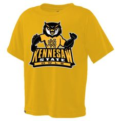 Youth scrappy tee from Jansport. Available in Gold and Gray. FREE SHIPPING until 01/19! Digital Textbooks, Kennesaw State, Owl Kids, Jansport, Youth, Free Shipping, Gray, Tees, Mens Tops