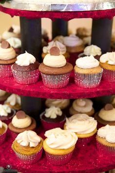 Petite wedding cupcakes
