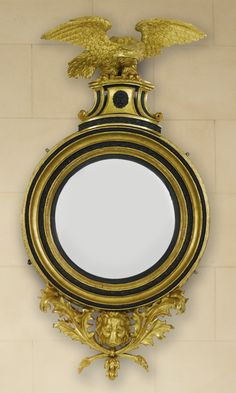 A Regency part-ebonized giltwood convex mirror circa 1810 Estimate — USD LOT SOLD. USD (Hammer Price with Buyer's Premium) Living Room Colors, Living Room Designs, Decoration, Art Decor, Antique Clocks, Antique Mirrors, Convex Mirror, Mirror Mirror, Home Decor Mirrors