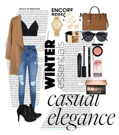 """""""Untitled #4"""" by cata13mota on Polyvore featuring Lipsy, MANGO, DKNY, Le Specs, Michael Kors, Topshop, Smashbox, Armani Beauty, cute and fashionable"""