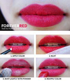 Make that bold lip last!
