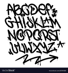 Set street type calligraphy design alphabet graffiti style tag letters write marker brush ink or aerosol paint spray. Free wildstyle for wall city urban. Grafitti Letters, Graffiti Alphabet Styles, Graffiti Lettering Alphabet, Graffiti Words, Graffiti Writing, Graffiti Designs, Graffiti Styles, Print Letters, Design Letters