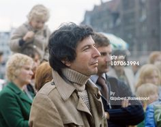 """Portraits of """"Leonard Cohen in April 1972 in Amsterdam, Netherlands. (Photo[s] by Gijsbert Hanekroot/Redferns)"""" From Getty Images."""
