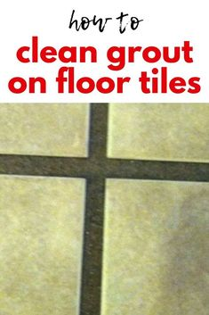 The best way to cleaning grout on tile floors. Easy grout cleaner diy tutorial. Diy Home Cleaning, Household Cleaning Tips, Diy Cleaning Products, Cleaning Hacks, Bathroom Cleaning, Teen Bedroom Crafts, Polyblend Grout Renew, Easy Tile, All Natural Cleaners
