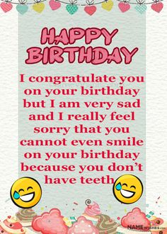 Funny Birthday Wishes and Quotes - Ideas at Namewishes Birthday Cake Write Name, Birthday Cake Writing, Birthday Wishes Funny, It's Your Birthday, Names, Feelings, Happy, Quotes, Ideas