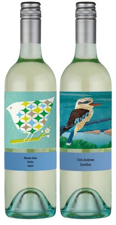 Wine labels by Masako Kubo and Chris Andrews.