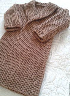 Верхняя одежда ручной работы. Вязаное пальто крупной жемчужной вязки Crochet Jacket, Crochet Cardigan, Knit Jacket, Knit Crochet, Macrame Patterns, Knitting Patterns, Crochet Patterns, Border Embroidery Designs, Crochet Girls