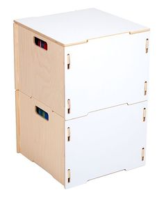 White Hanging File Box - Set of Two