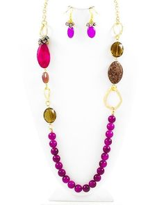{Semi-Annual Sale} Passion Fruit Pebbles Necklace & Earring Set $24 Free Shipping!