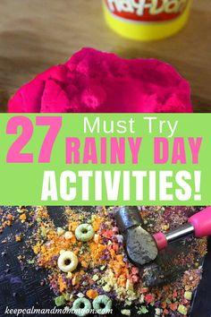 27 Must Try Rainy Day Activities! Summer Activities For Kids, Indoor Activities For Kids, Toddler Activities, Preschool Activities