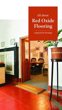 As red oxide flooring is back with a bang, allow us to tell you all about it - from its versatile nature and best uses to costs, we've got you covered! Indian Home Design, Indian Interior Design, Kerala House Design, Indian Home Decor, Ethnic Home Decor, Hall Interior, Farmhouse Interior, Farmhouse Style, Floor Design