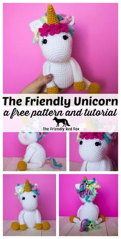 This free crochet unicorn pattern was a long time in coming. If you have ever searched the internet, this is not the only free crochet Baby Blanket Crochet, Crochet Baby, Free Crochet, Irish Crochet, Ravelry Crochet, Crochet Unicorn Pattern Free, Crochet Amigurumi Free Patterns, Crochet Stitches, Crochet Gifts