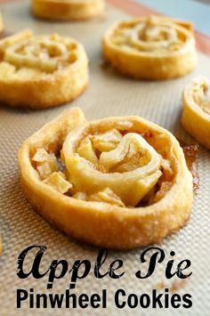 Apple pie pinwheel cookies