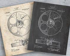 Film Reel 1915 Patent Poster Movie Wall Art Vintage Movie