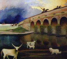 Tivadar Kosztka Csontváry, Storm on the Hortobágy, detail 1