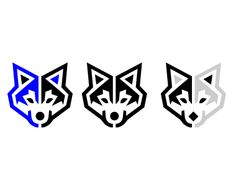 Wolf icon which will be used  as part of a new logo for a new startup
