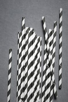 black and white paper straws. Not a craft but I think I may order some for Halloween or the Boy's birthday