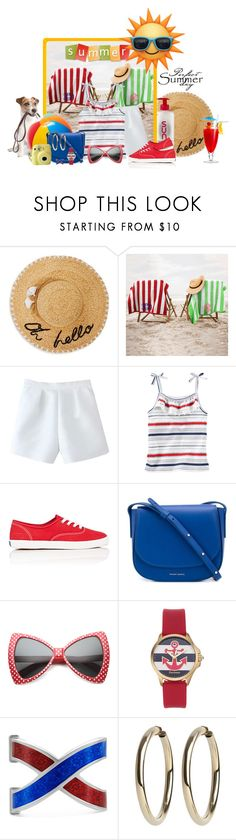 """""""Perfect Summer Day in Stripes ... !!"""" by fashiongirl-26 ❤ liked on Polyvore featuring Kate Spade, Keds, Therapy, Mansur Gavriel, ZeroUV, Juicy Couture and Gucci"""