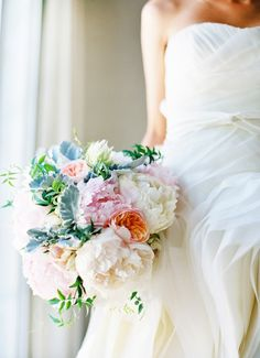 Pretty pastel flowers #peonies #pastel by Jose Villa on Kelly Oshiro