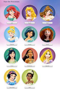 Disney Princess Names Pin by Crafty A...