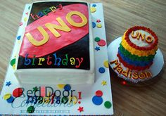 Uno First Birthday - Cake by Alicea Norman