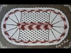 Tapete de Barbante nº 9 - Tutorial completo - Parte 1 de 4 - YouTube Crochet Mat, Filet Crochet, Knitting Videos, Crochet Videos, Crochet Tablecloth, Crochet Doilies, Crochet Decoration, Point Lace, T Shirt Yarn