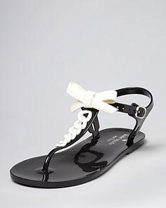 kate spade new york Jelly Thong Sandals - Farren Flat | Bloomingdale's